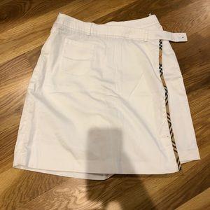 Burberry Golf white skort skirt short size 8